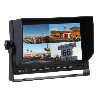 "AHD monitor 7"" s kvadrátorem a s 4x4PIN vstupy"