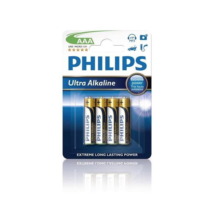 PHILIPS Ultra Alkaline mikrotužková baterie AAA