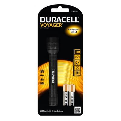 DURACELL VOYAGER EASY-1 svítilna kovová + 2x AAA baterie