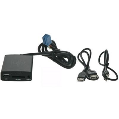 Adaptér pro ovládání USB zařízení OEM rádiem Fiat,Alfa Romeo/Blaupunkt AUX vstup