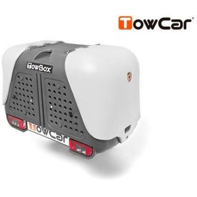 TowCar TowBox V2 Dog šedý, na tažné zařízení